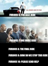Fast 6 Meme - titles of the upcoming fast furious movies sports food funny