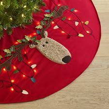 led light up reindeer tree skirt reindeer
