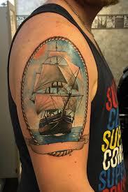50 amazing ship tattoos you won u0027t believe are real tattooblend