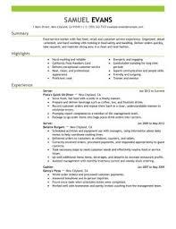 food service resume template resume food service resume template