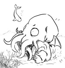chibi cthulhu by micer on deviantart with coloring pages eson me