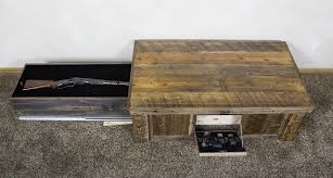 coffee table with hidden gun storage plans hand made hidden gun barn wood coffee table by droptine woodworks