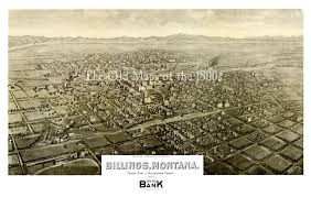 Billings Montana Map by Billings Montana In 1904 Bird U0027s Eye View Map Aerial Panorama