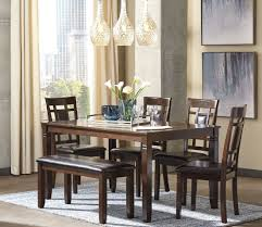 bennox brown 6 piece rectangular dining room set from ashley