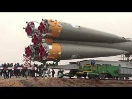 expedition 27 crew prepares for launch as their soyuz rocket move