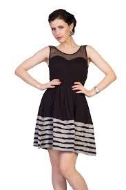 buy tong dazzling black mini short party wear skater dress for