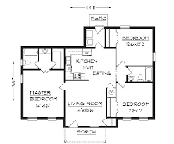 Building Floor Plan One Story Residential House Floor Plan House And Home Design