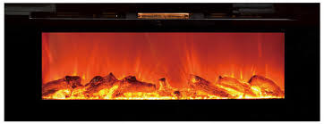 Recessed Electric Fireplace Black Sideline Recessed Electric Fireplace