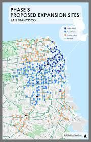 Sf Bart Map Bike Share Expansion Over 80 Of 546 Ford Gobike Stations Now