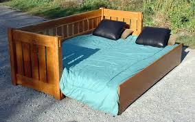 Mission Sleeper Sofa Voorhees Craftsman Mission Oak Furniture Sofa Sleeper In Cherry