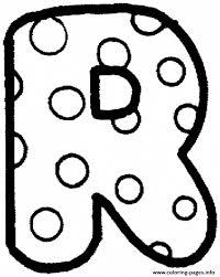bubble letters r letter template