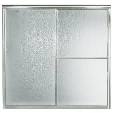 Sterling Shower Doors Shop Sterling 59 38 In W X 56 25 In H Silver Bathtub Door At Lowes Com
