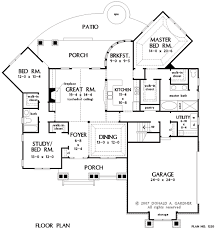 All In The Family House Floor Plan House Plan The Lisenby By Donald A Gardner Architects