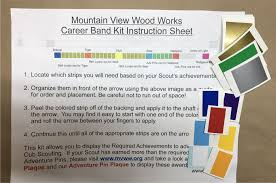 webelos arrow of light requirements 2017 new program career band kit mountain view wood works
