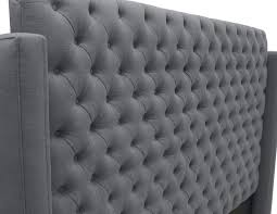 Grey Tufted Headboard Bedroom Charming Franck Wing Tufted Linen Headboard Grey Picture