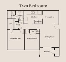 small bedroom floor plans two bedroom floorplan forest park apartments springfield tn