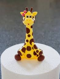 safari cake toppers goofy giraffe cake topper by artsinhand on etsy 15 00