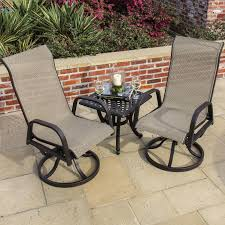 Ultimate Patio Furniture by Madison Bay 3 Piece Sling Patio Bistro Set With Swivel Rockers By