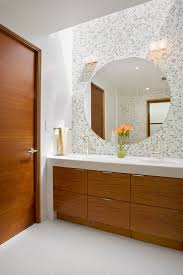 Bathroom Accent Cabinet San Diego Tile Accent Wall Bathroom Transitional With White Marble