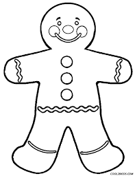 gingerbread man coloring page coloring pages online
