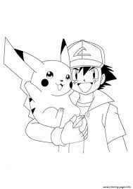 print ash pikachu pokemon0cfa coloring pages free printable