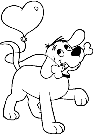 coloring page of a big dog clifford the big red dog coloring pages printable page