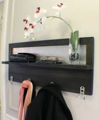 wall mounted shelf with hooks foter