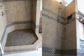 Open Shower Bathroom Bathroom Bathroom Small With Walkin Open Shower No Door Rug On