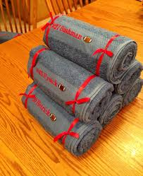 senior football gifts embroidered bath towels cost under 10