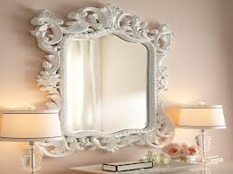 Baroque Home Decor White Baroque Floor Mirror