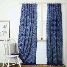 blue curtains navy window bohemian nautical home decor
