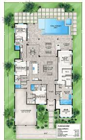 florida house plans with pool florida house plan with indoor outdoor living 86023bw