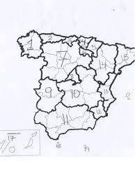 Map Of Spain Regions by Clase Con Profe Bob