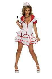sale black nurse costume for halloween party with pretty