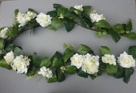 ivory hydrangea silk roses artificial garland artificial