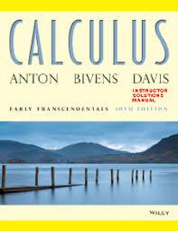 solution calculus solution manual 10th edition anton bivens davis
