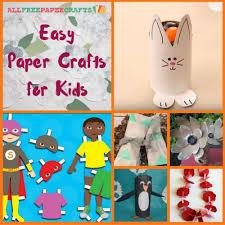 Easy Paper Craft For Kids - 21 easy paper crafts for kids allfreepapercrafts com