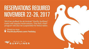 amtrak railcars onboard for thanksgiving travel