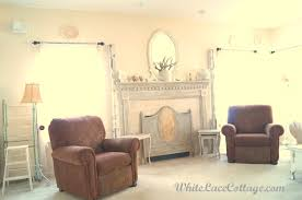 White Sofa Slipcovers by White Sofa Slipcover And A Mantle Change White Lace Cottage