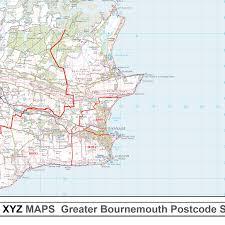 Map Gif Bournemouth Bh Postcode Map Gif Image G21 Xyz Maps