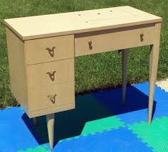 empty vintage singer sewing machine cabinet desk table fits 99 k