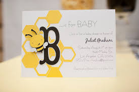 Indian Baby Shower Invitation Cards Template Bumble Bee Baby Shower Invitations