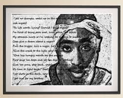 tupac poster etsy