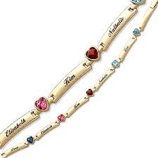 s bracelet birthstones s birthstone heart name bar bracelet 38846 limoges
