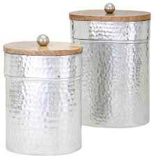 brant lidded containers 2 piece set contemporary kitchen