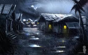 dark village wallpaper rain artwork christian quinot village wallpaper allwallpaper in