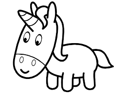 unicorn outline kids coloring