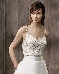 august tulle beaded bridal top belle badgley mischka bridal