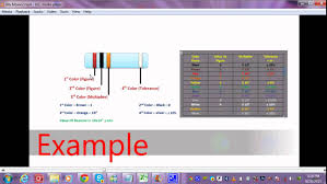 youtube color code how to find value of resistor by using color code youtube resistor