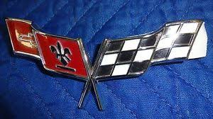 c3 corvette flags 1977 1979 c3 corvette crossed flags nose emblem ebay